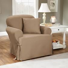 Oversized Chair Slipcover Furniture Decorative Glider Slipcover On Concrete Flooring And