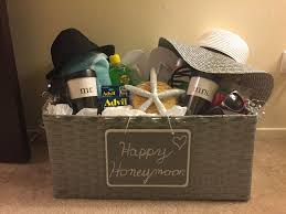 honeymoon gift honeymoon basket bridal shower honeymoon basket