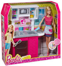 amazon com barbie doll and kitchen furniture set toys u0026 games