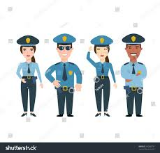 police man police woman police officers stock vector 336908756
