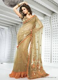 newly party wear indian saree collection 2015 qasim rathoore