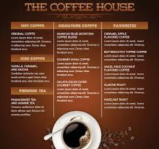menu flyer template coffee house mini menu flyer template by loswl on deviantart