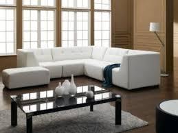 Modern Sectional Sleeper Sofa Microfiber And Leather Sectional Sleeper Sofa With Chaise And