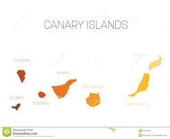 Map With Labels Map Of Canary Islands Spain With Labels Of Each Island El