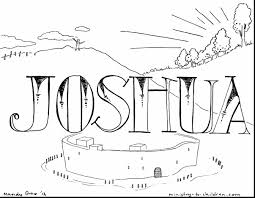 beautiful joshua bible coloring page with bible story coloring