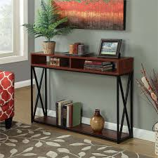 2 Tier Desk by Deluxe 2 Tier Console Table In Cherry 161889ch