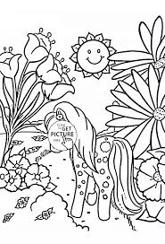 cute pony coloring page for kids for girls coloring pages