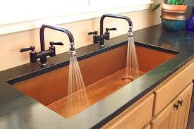 Copper Kitchen Sinks And Faucets Thediapercake Home Trend - Copper sink kitchen