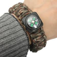 paracord bracelet buckle with whistle images Tactical paracord outdoor survival bracelet buckle band compass jpg