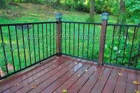 aluminum deck railing posts unique shaped decoration fence metal
