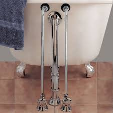 Bathtub Wall Mount Faucet Rigid Supply Lines U0026 Accessories For Clawfoot Bathtubs