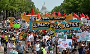 people u0027s climate march draws thousands to d c in trump u0027s 100th