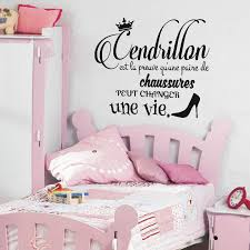 sticker citation cendrillon stickers chambre ado fille ambiance