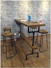 bar style table and chairs american loft retro style bar tables chairs wrought iron pipe with