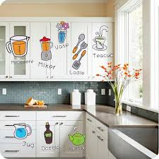 aliexpress com buy creative cartoon stickers kitchen cabinet