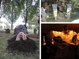 Haunted Backyard Ideas Haunted House Ideas Outdoortheme Lighted Grave Yard