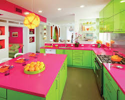 funky kitchen designs neon green and hot pink kitchen pantone lime punch bright green