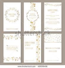 vector wedding card floral ornament backside stock vector