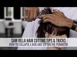 how to cut hair with a weight line how to soften the perimeter and collapse the shape of a bob