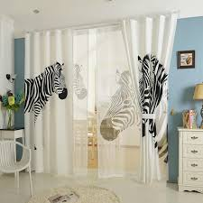 Zebra Print Curtain Panels Online Get Cheap White Blackout Panels Aliexpress Com Alibaba Group