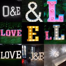 large light up letters bespoke light up letters illuminated letters for weddings and events