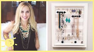 bracelet necklace organizer images Diy jewelry organizer cute and easy jpg
