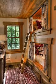 Rustic Built In Bunk Beds Bedroom Rustic With Trundle Bed Builtin - Rustic wood bunk beds