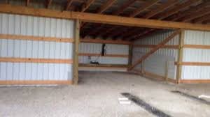 How To Make Your Own Barn Door by How To Build A Cheap Hangar Or Pole Barn Youtube