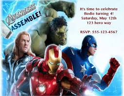 40th birthday ideas avengers birthday invitation templates free