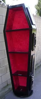 coffin bookshelf ooak vire coffin bookcase furniture