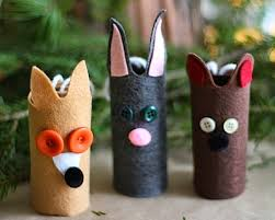 tp roll woodland animal ornaments things to make and do crafts