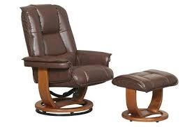 pluto r 116 series leather recliner and ottoman set by stanley
