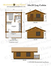 cabin plan 16x20 log cabin meadowlark log homes