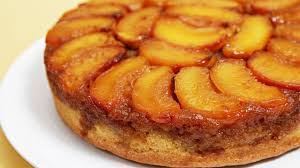 peach upside down cake with cognac caramel youtube