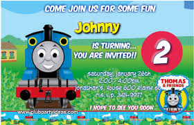 thomas u0026 friends birthday invitations free customize and
