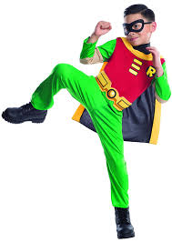 amazon com teen titan robin costume boy child large 12 14 toys