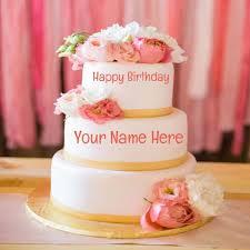 write name on birthday cake and birthday wishes free