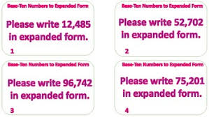 numbers in expanded form converting larger base ten numbers to expanded form task cards tpt