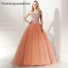 forevergracedress real images peach color quinceanera dress new