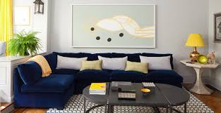Blue Sofa In Living Room Modern Furniture Minimalist Living Room Design With Blue