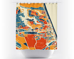 Virginia Beach Maps by Virginia Beach Map Shower Curtain Usa Shower Curtain Chroma