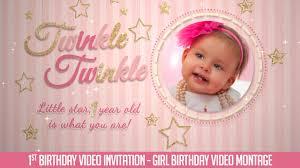 baby girl birthday birthday invitation twinkle twinkle baby girl