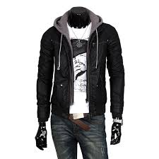 leather hoodie jacket baggage clothing
