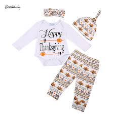 thanksgiving baby unisex clothes set baby boy sleeve