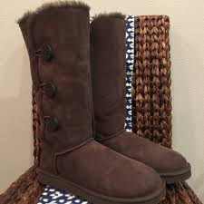 ugg boots sale bailey button triplet ugg ugg bailey button triplet boots chocolate from stefanie s