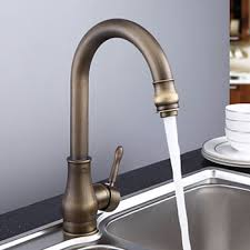 Brushed Brass Kitchen Faucet by Buy Single Handle Antique Brass Porcelain Kitchen Faucet Bronze
