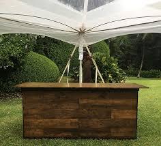 bar rentals wood bar rental kauai s rentals kauai a kauai tent rental