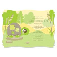 turtle baby shower baby turtle personalized baby shower invitations