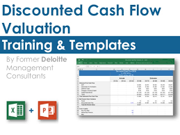 Discounted Flow Excel Template Discounted Flow Model Template In Excel By Ex Deloitte Consult
