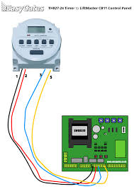 wiring diagram for connecting th827 24 timer to liftmaster cb11